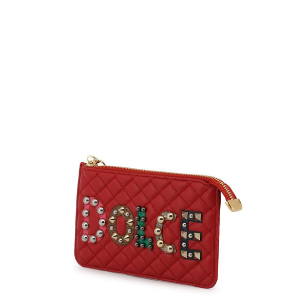 Buy & Consign Authentic Dolce & Gabbana Lambskin Watersnake Embellished Pochette Red at The Plush Posh