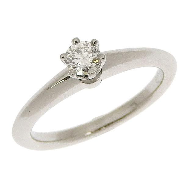 Buy & Consign Authentic Tiffany Platinum Diamond Solitaire Ring at The Plush Posh