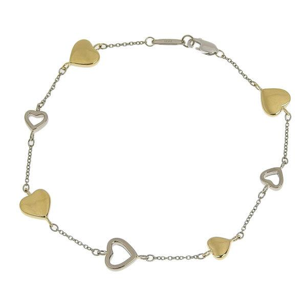 Buy & Consign Authentic Tiffany K18 Combi Heart Motif Bracelet at The Plush Posh