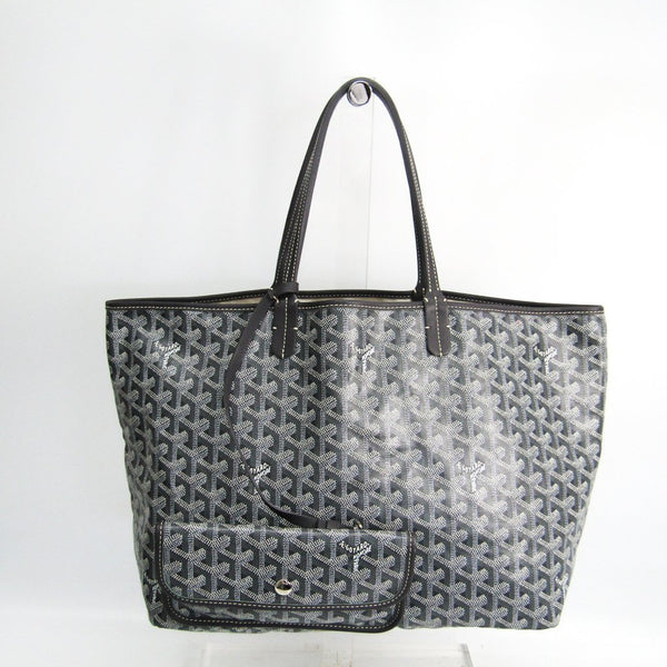 Buy & Consign Authentic Goyard Saint Louis PM Leather,Canvas Tote Bag Gray at The Plush Posh