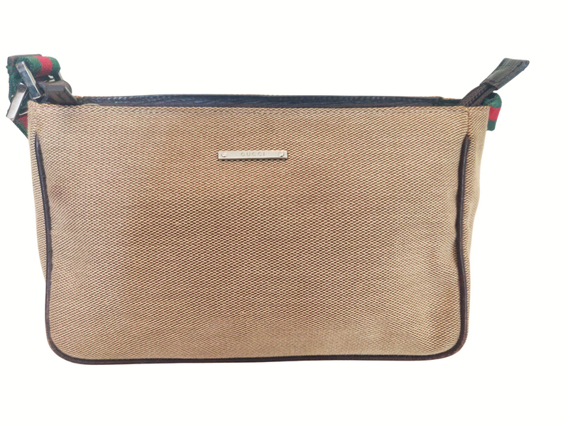 Gucci Small Canvas Pochette Beige