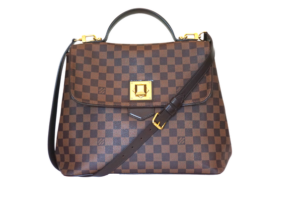 Louis Vuitton Damier Ebene Canvas Bergamo MM Bag