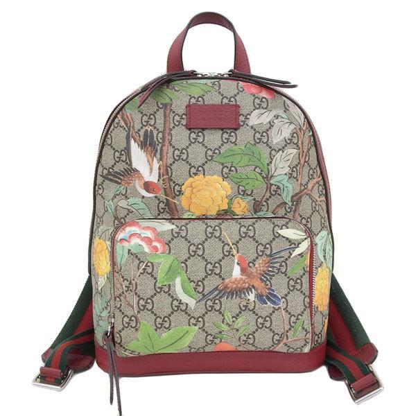 Buy & Consign Authentic Gucci GG Supreme Monogram Small Tian Print Backpack Red at The Plush Posh