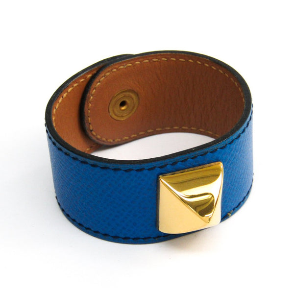 Buy & Consign Authentic Hermes Courchevel Medor Bracelet Bleu France at The Plush Posh