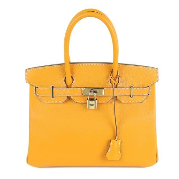 Buy & Consign Authentic Hermes Epsom Birkin 30 Mango Yellow at The Plush Posh