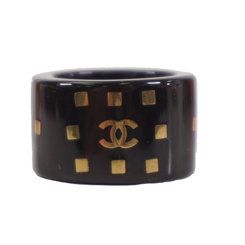 Buy & Consign Authentic Chanel  Coco mark Plastic Ring Black at The Plush Posh