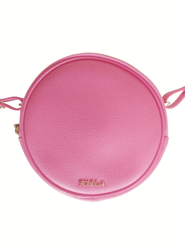 Furla Perla Mini Round Cross Body Bag Pink