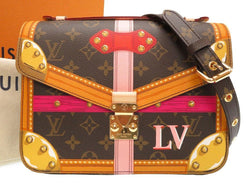 Buy & Consign Authentic Louis Vuitton Monogram Summer Trunks Pochette Metis Limited Edition at The Plush Posh