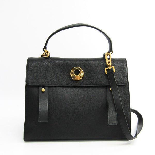 Buy & Consign Authentic Saint Laurent Calfskin Canvas Medium Muse Two Black at The Plush Posh