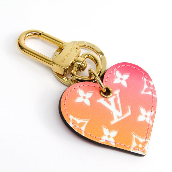 Buy & Consign Authentic Louis Vuitton Monogram Love Lock Bag Charm Keyring (Orange,Pink) at The Plush Posh