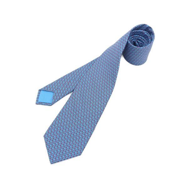 Buy & Consign Authentic Hermes Silk Tie Blue at The Plush Posh