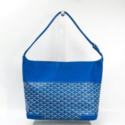 Buy & Consign Authentic Goyard Grenadine Women's Leather,Canvas Shoulder Bag Blue at The Plush Posh