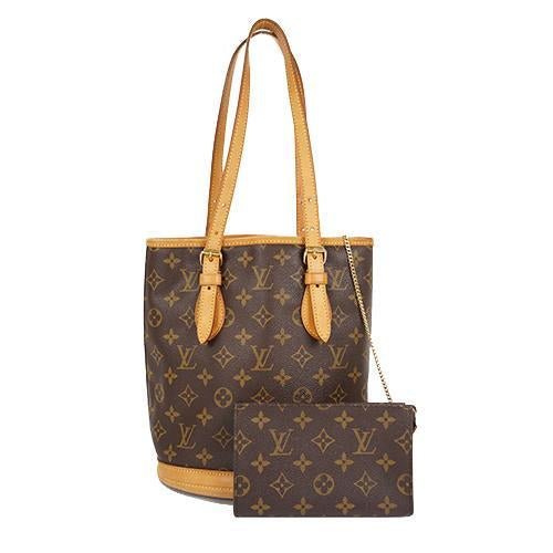 Buy & Consign Authentic Louis Vuitton Monogram Canvas Petit Bucket Bag at The Plush Posh