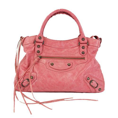 Buy & Consign Authentic Balenciaga Agneau Classic Large Sunday Rose Bruyere at The Plush Posh
