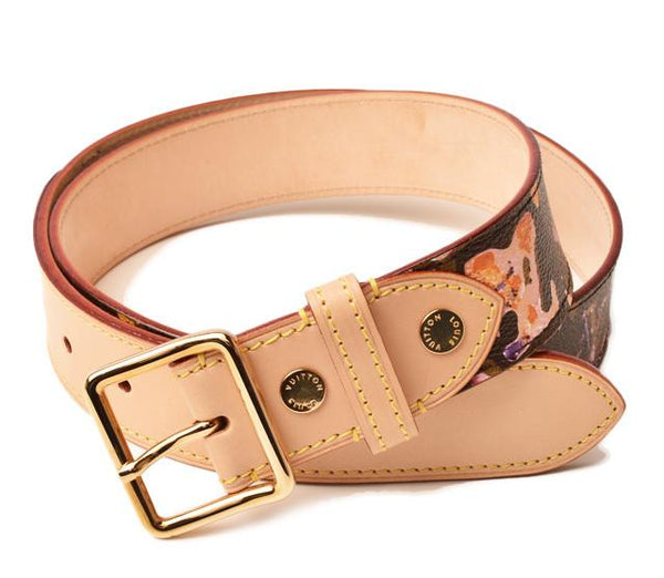 Buy & Consign Authentic Louis Vuitton Monogram Belt Multi at The Plush Posh