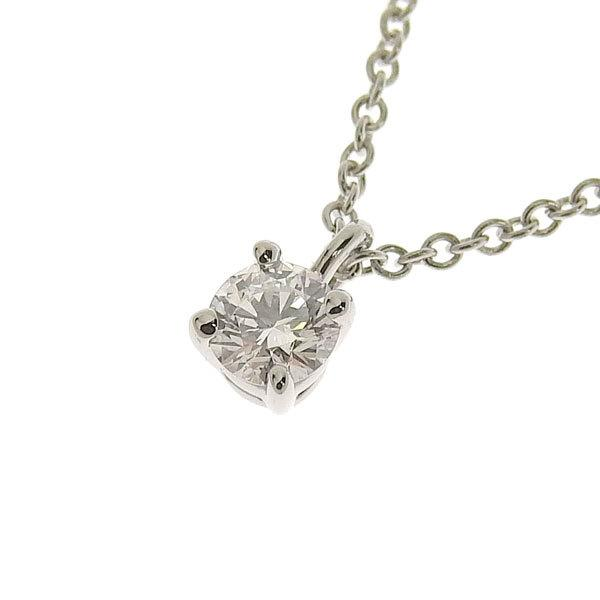 Buy & Consign Authentic Tiffany Platinum Solitaire Necklace at The Plush Posh
