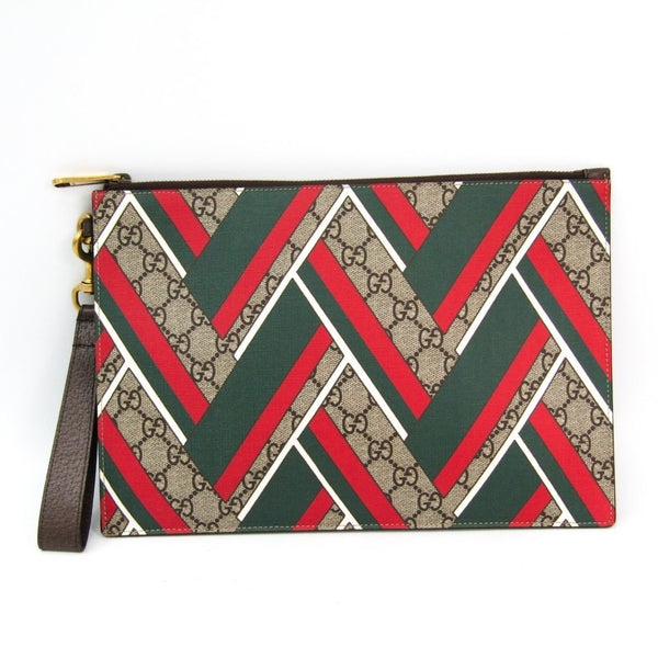 Buy & Consign Authentic Gucci GG Supreme Leather Clutch Bag at The Plush Posh