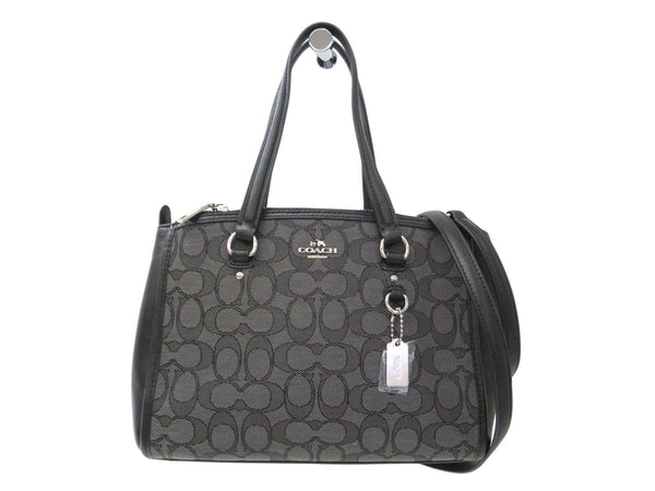 Buy & Consign Authentic Coach Black Signature Canvas Leather Stanton Carry All at The Plush Posh