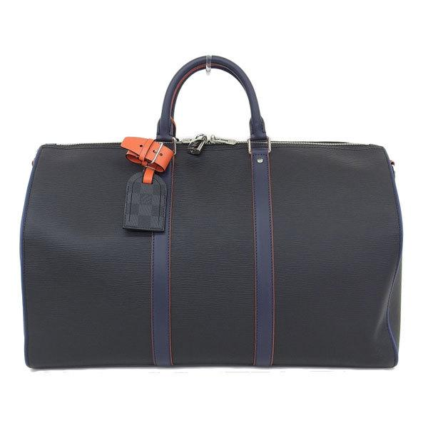 Buy & Consign Authentic Louis Vuitton Navy Orange Epi Damier Graphite 50 Travel Boston Bag at The Plush Posh