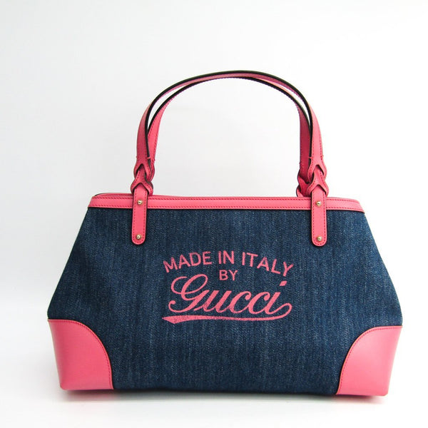 Buy & Consign Authentic Gucci Denim Tote Pink at The Plush Posh