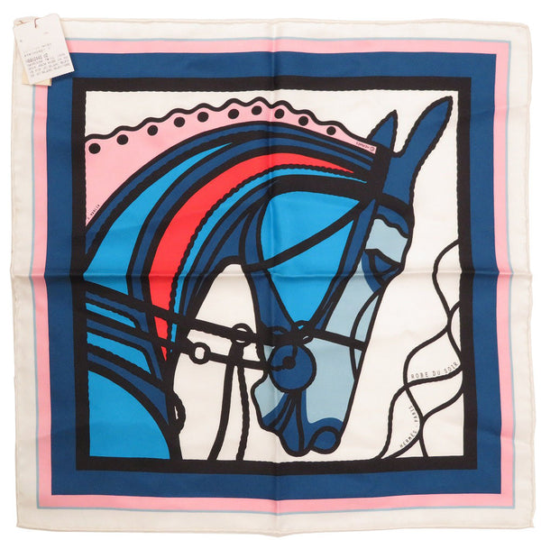 Buy & Consign Authentic Hermes Carre 45 Silk Robe Du Soir Scarf Blue at The Plush Posh