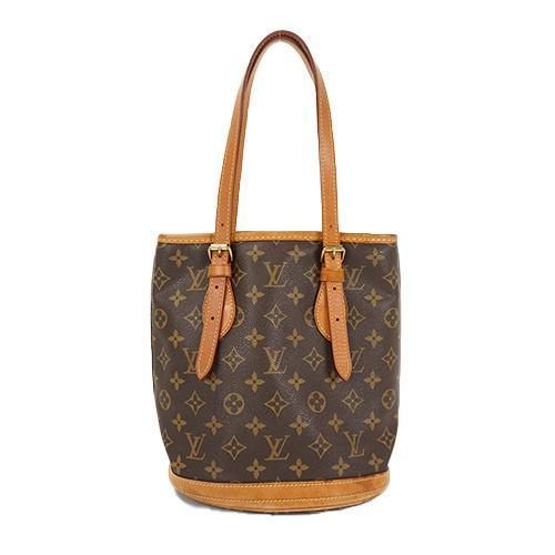 Buy & Consign Authentic Louis Vuitton Monogram Canvas Petit Bucket Tote Bag at The Plush Posh