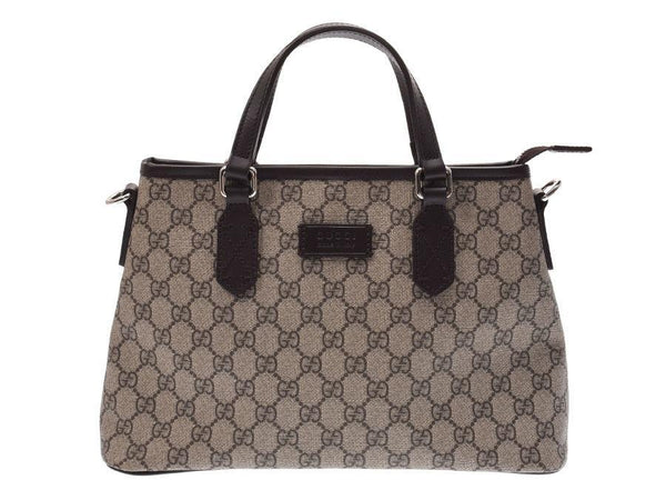Buy & Consign Authentic Gucci GG Supreme Monogram Medium Zip Tote Dark Brown at The Plush Posh