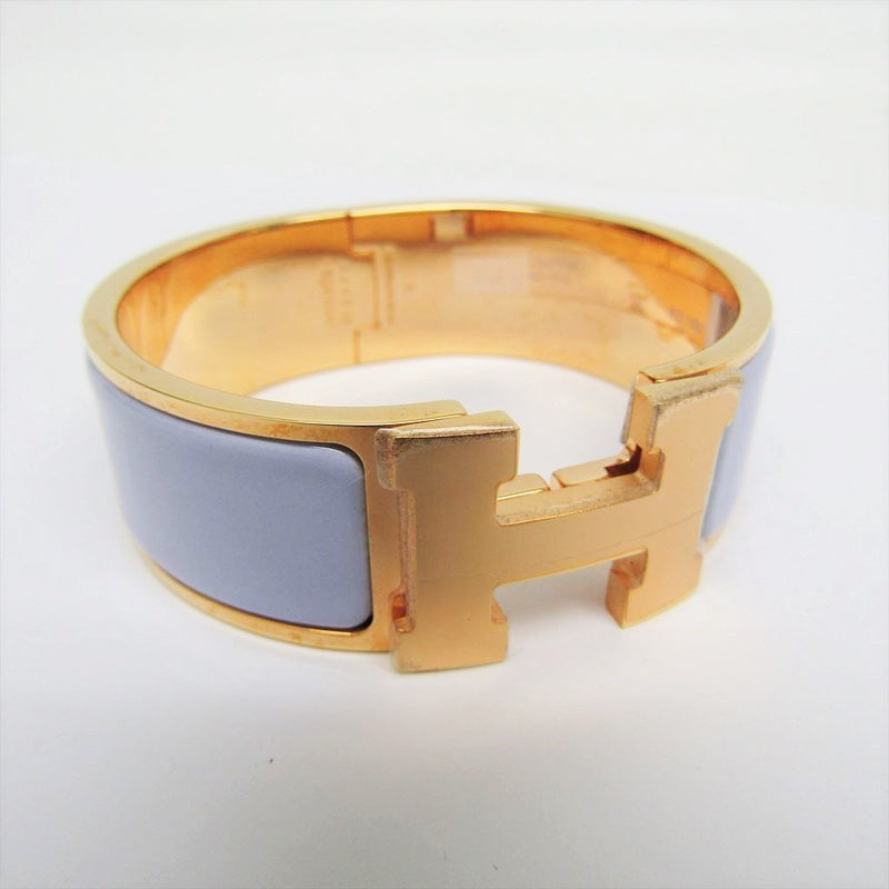 Buy & Consign Authentic Hermes Enamel Wide Clic Clac H Bracelet GM Light Purple at The Plush Posh