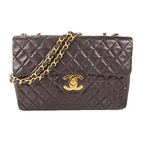 Buy & Consign Authentic Chanel Lambskin Quilted Jumbo Double Flap Black at The Plush Posh