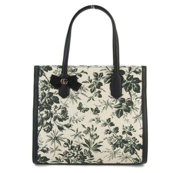 Buy & Consign Authentic Gucci Herbarium Tote Beige Black at The Plush Posh