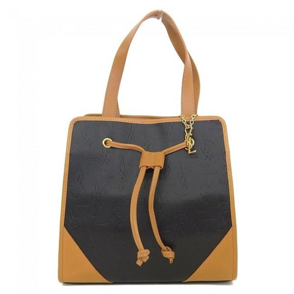 Buy & Consign Authentic Yves Saint Laurent Logo Embossed Handbag at The Plush Posh