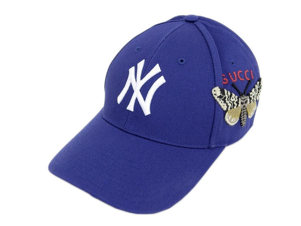 Buy & Consign Authentic Gucci New York Yankees Baseball Cap Canvas Blue at The Plush Posh