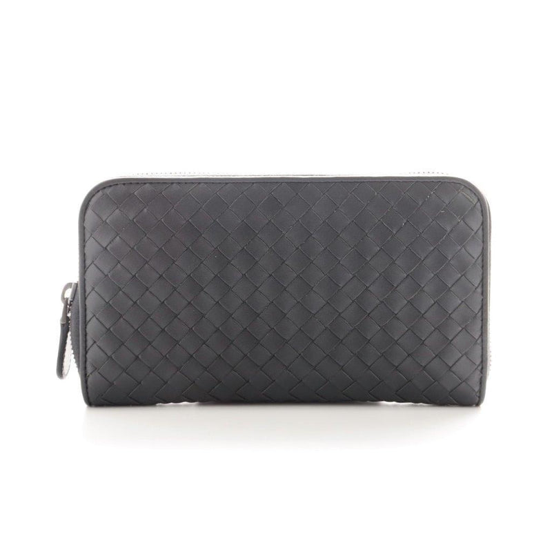 Buy & Consign Authentic Bottega Veneta Intrecciato Wallet Grey at The Plush Posh