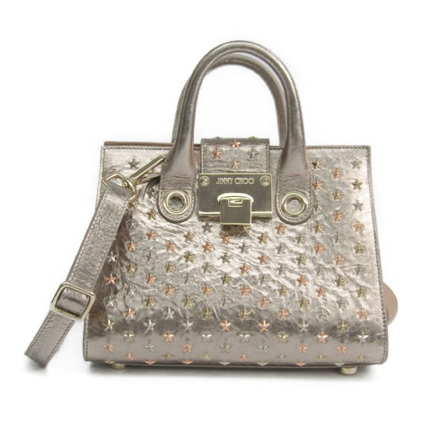 Buy & Consign Authentic Jimmy Choo Champagne Gold Leather Star Studded Small Riley Bag at The Plush Posh