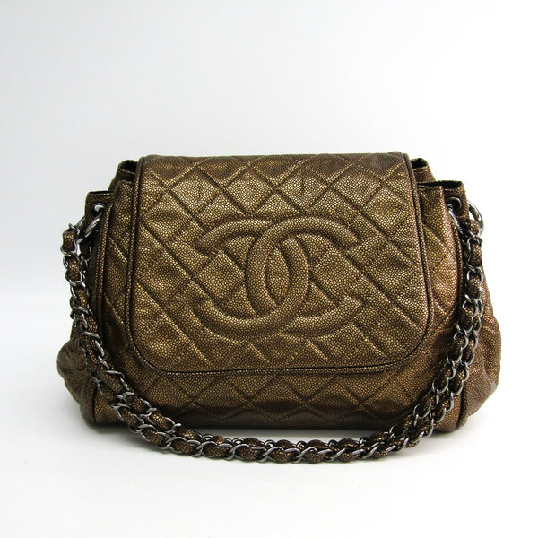 Buy & Consign Authentic Chanel Women's Caviar Leather Shoulder Bag Gold at The Plush Posh