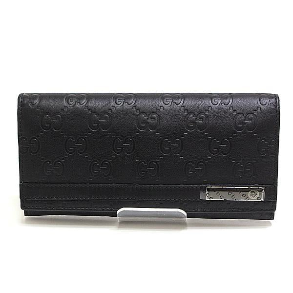 Buy & Consign Authentic Gucci GG Guccissima Long Wallet Black at The Plush Posh