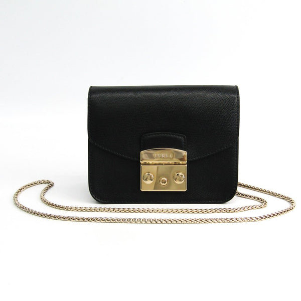 Buy & Consign Authentic Furla Metropolis Shoulder Bag Black at The Plush Posh