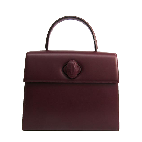 Buy & Consign Authentic Cartier Must de Cartier Leather Handbag Bordeaux at The Plush Posh