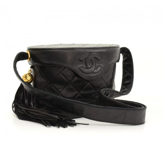 Buy & Consign Authentic Chanel 7inch Black Quilted Leather Fringe Shoulder Pochette Bag at The Plush Posh