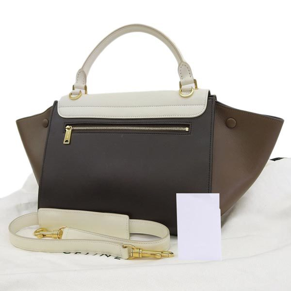 Buy & Consign Authentic Celine Calfskin Nubuck Small Tri-Color Trapeze at The Plush Posh