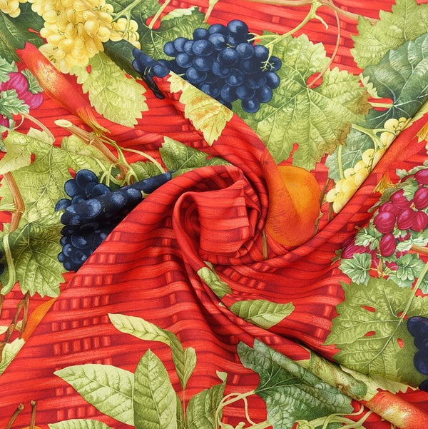 Gucci Silk Scarf Fruit Pattern