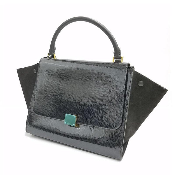 Buy & Consign Authentic Celine Drummed Calfskin Suede Medium Trapeze Black at The Plush Posh