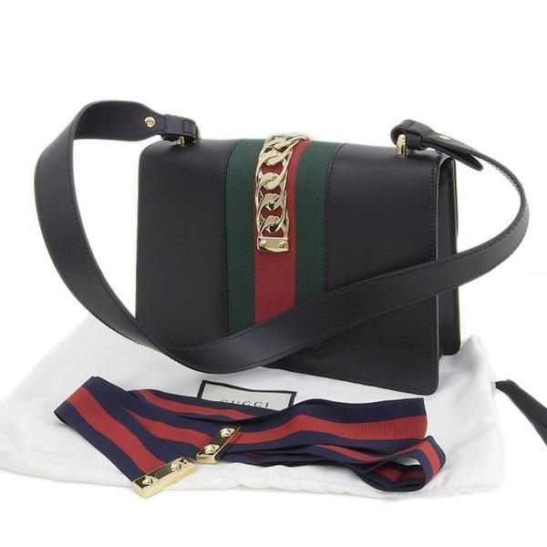 Buy & Consign Authentic Gucci Calfskin Mini Sylvie Bag Black at The Plush Posh