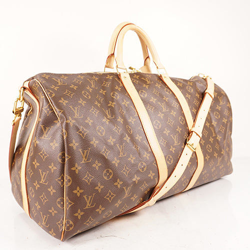 Buy & Consign Authentic Louis Vuitton Monogram Keepall Bandouliere 55 at The Plush Posh