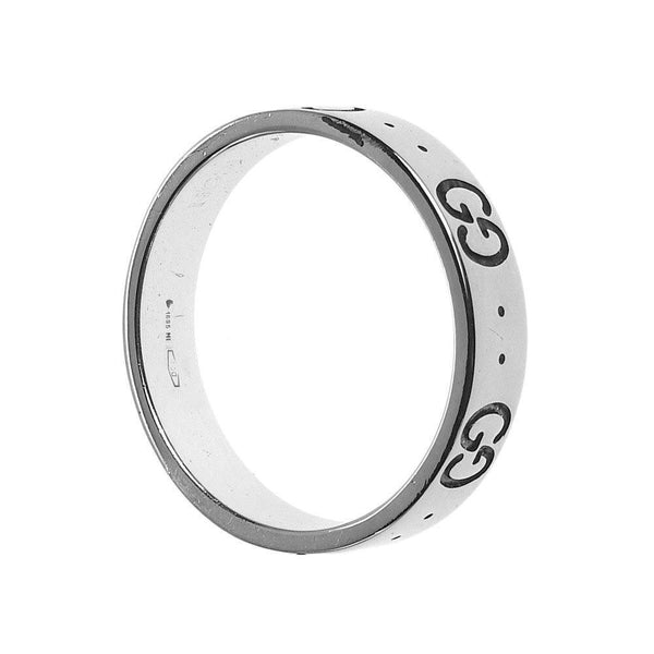 Buy & Consign Authentic Gucci 18K White Gold 4mm Icon Band Ring at The Plush Posh