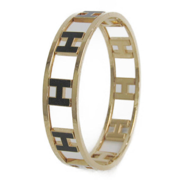 Buy & Consign Authentic Hermes H Metal Bangle Black & Gold at The Plush Posh