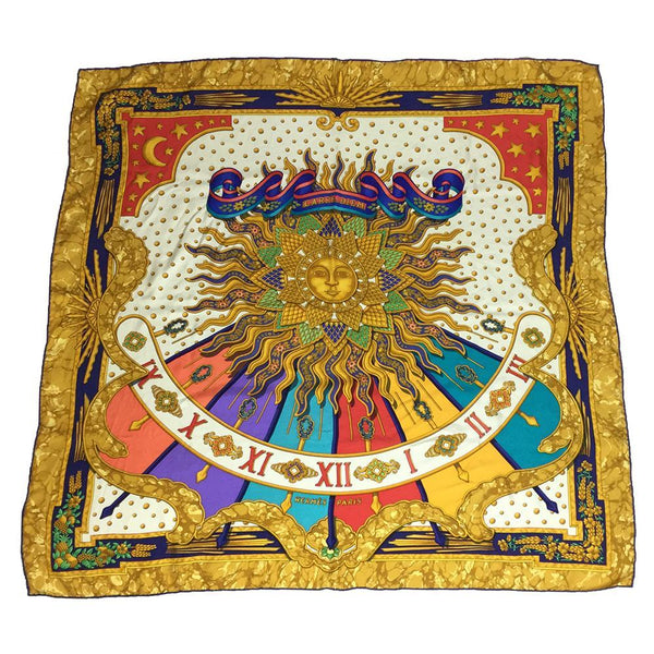Buy & Consign Authentic Hermes Carre90 CARPE DIEM Scarf Multi-color at The Plush Posh