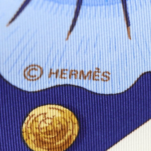 Buy & Consign Authentic Hermes Carre 90 Turkish Horse Cheval Turc 100% Silk Blue Scarf at The Plush Posh