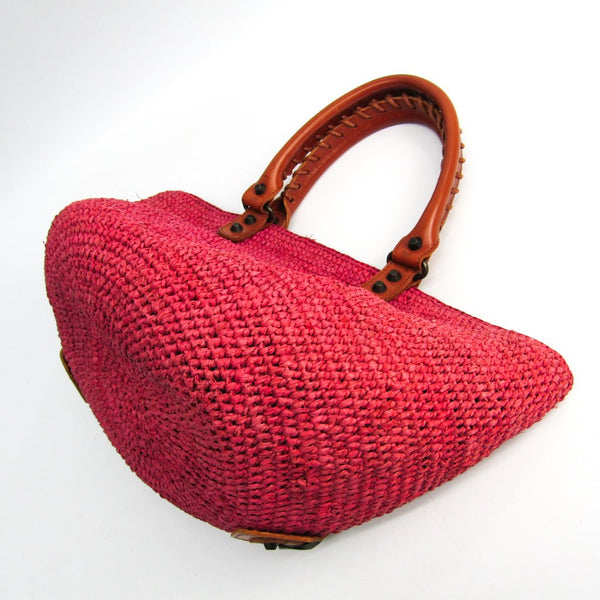 Buy & Consign Authentic Balenciaga Raffia Straw Handbag Pink at The Plush Posh