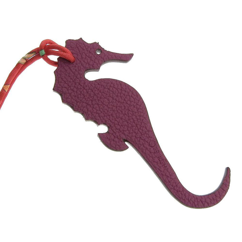 Buy & Consign Authentic Hermes Taurillon Clemence Epsom Petit H GM Seahorse Bag Charm Pink at The Plush Posh